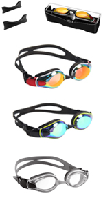 Aegend Flat Lens Swim Goggles