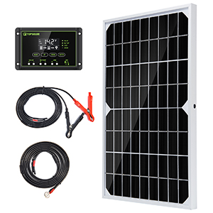 10W solar trickle charger