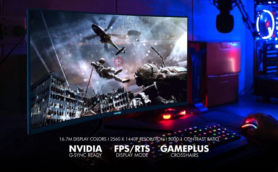 16.7M 2560x1440P 3000:1 NVIDIA G-SYNC GAMEPLUS