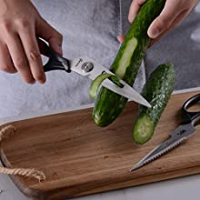 kitchen scissors multi-purpose peeler stainless steel separable for cleaning vegetable herb chopping