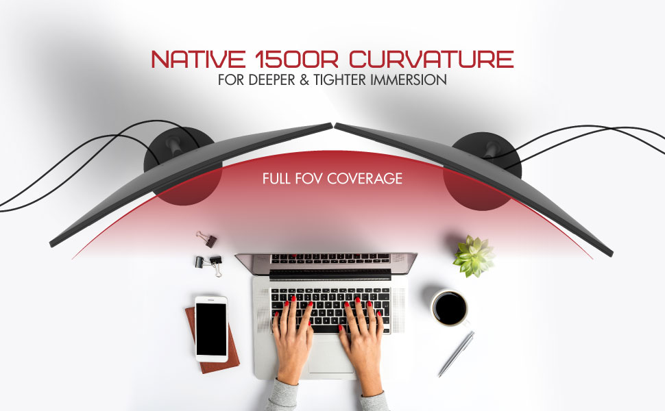 NATIVE 1500R CURVATURE FOR DEEPER & TIGHTER IMMERSION