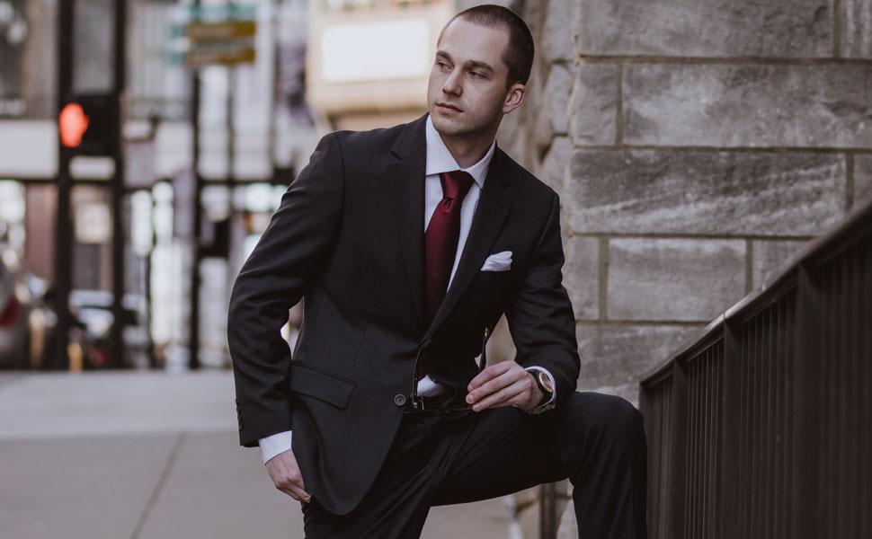 HouChanges Corbata de color liso Corbata de satén liso de 6 cm ...