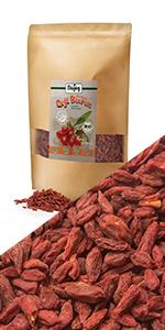 bayas de goji ecologicas desecadas berries sin azúcar harina muesli frutas secas nueces gluten sal