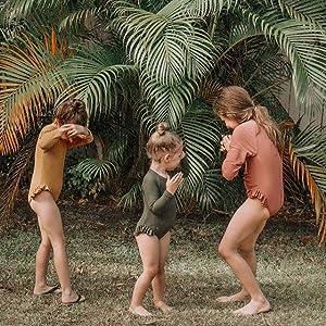 toddler girl rashguard swimsuit one-piece