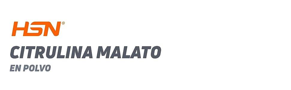 Citrulina Malato en polvo de HSN | Vasodilatador, Óxido Nítrico | Pre-Entrenamiento + Rendimiento Atlético + Resistencia Muscular | Vegano, Sin ...