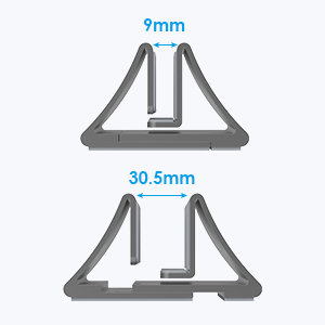 The adjustable size of this laptop stand.