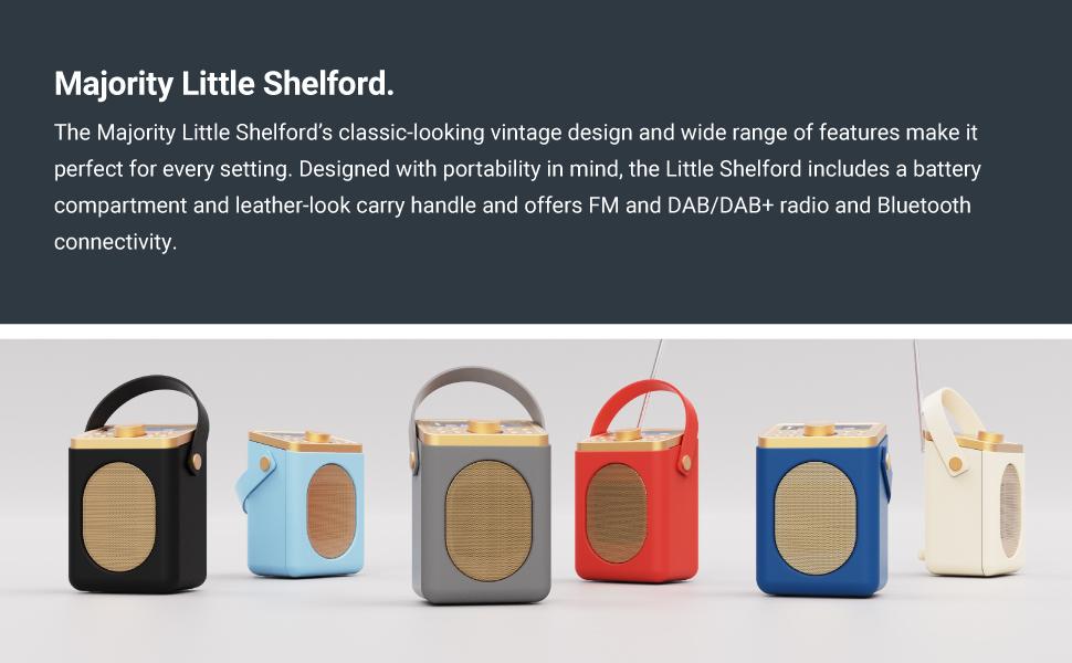 Majority Little Shelford Portable Bluetooth DAB Radio