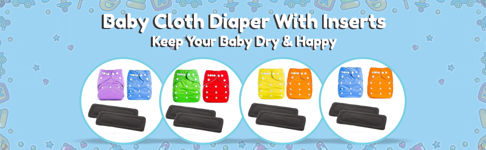 Baby Diaper + Inserts- SPN-FOR 1