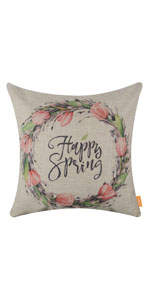LINKWELL Happy Spring Pillow Cover