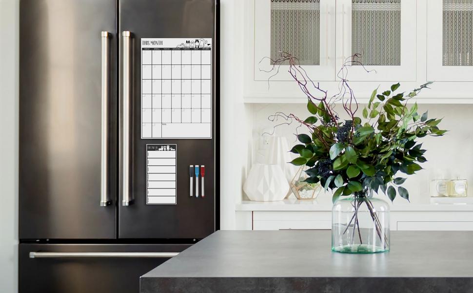 fridge calendar dry erase magnetic weekly dry erase board for wall dry erase board calendar planner