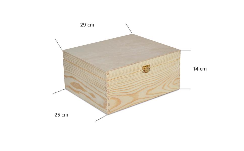 Creative Deco Grande Caja Madera para Decorar con Tapa | 29 x 25 x ...