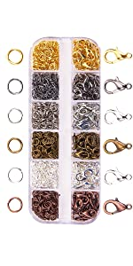 Open Jump Rings Connectors Bulk for DIY Craft Earring Necklace