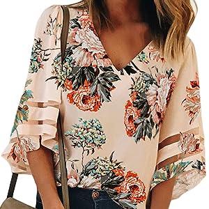 women floral print top