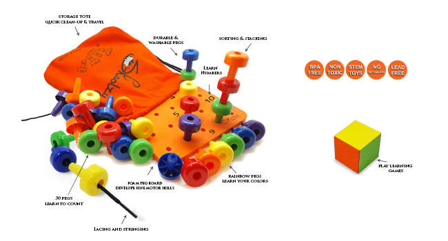 stacking pegs toys for toddlers