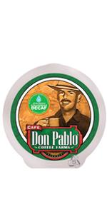 2LB Don Pablo Colombain Decaf k cups