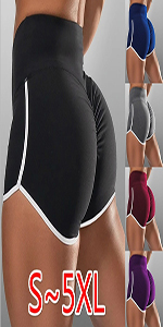 Biker Shorts for Women High Waist Pleated Teen Girlss Yoga Athletic Workout Short Pants Plus Size