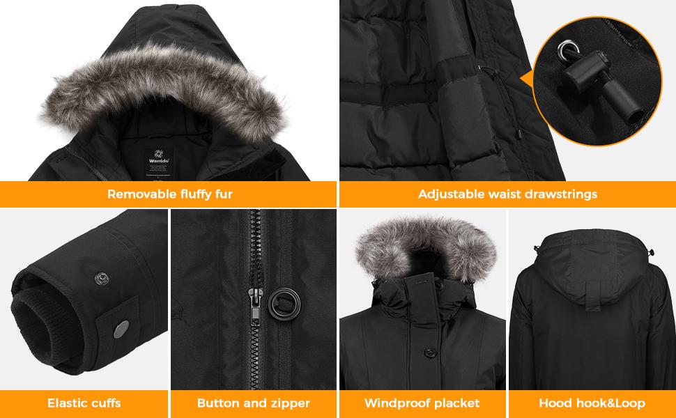 Women's Warm Winter Coat Waterproof Parka Long Puffer Jacket