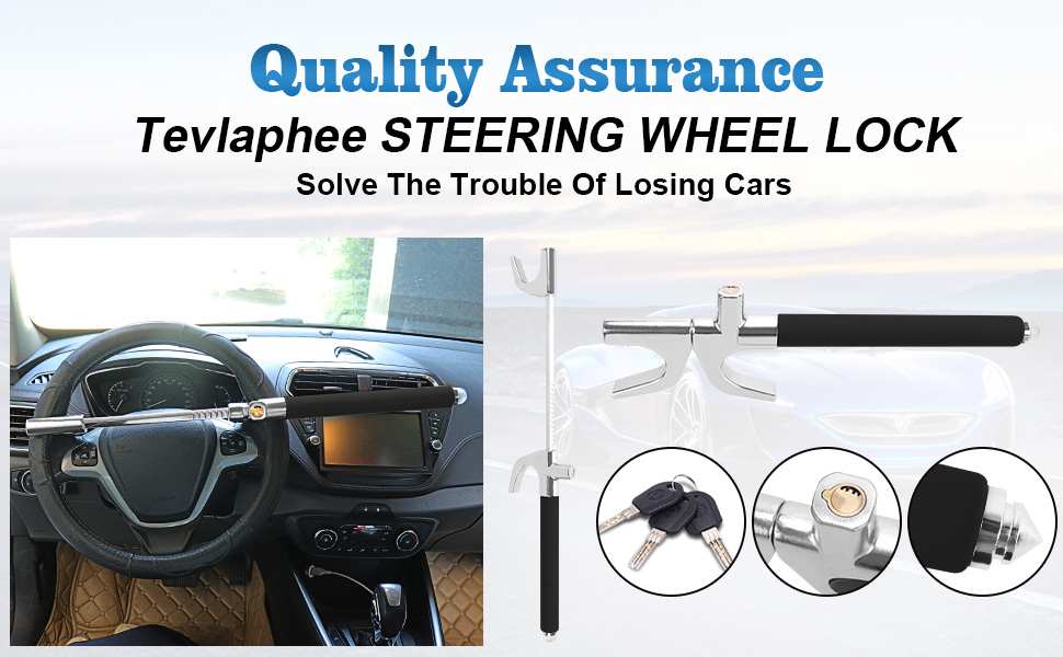 High-quality steering wheel lock