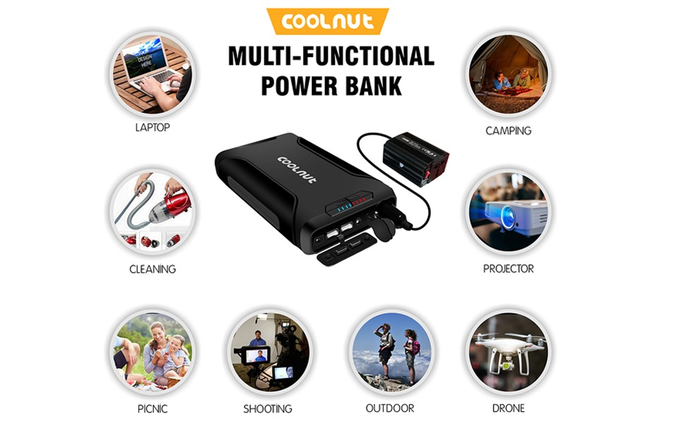 Coolnut Multi-Functional Power Bank