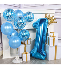 PartyWoo Gold and Black Balloon