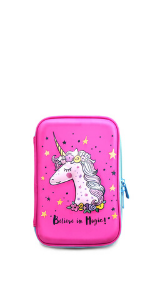 pen case, hard shell, pink, girls, unicorn, princess, disney, school, back to, gift for girls,kid