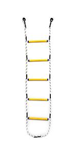 Aoneky Escalera de Cuerda de Escape de Incendio - 5,10 Metros ...
