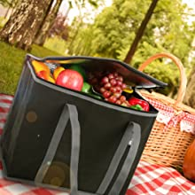 Heavy Duty Foldable Travel Picnic insulated grocery bag