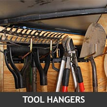Long Tools Hanging on E-Track Tool Hangers