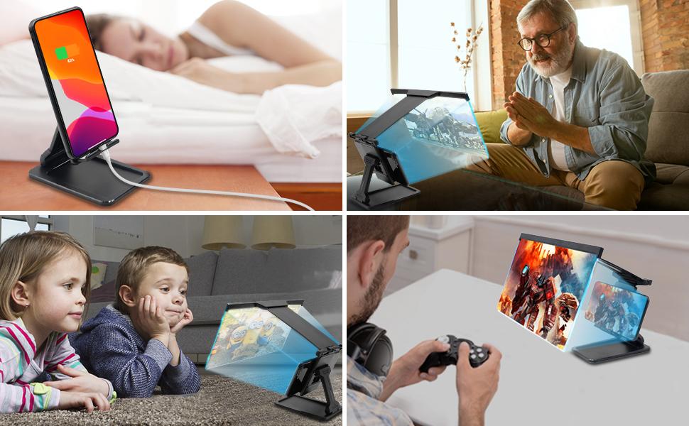 Projector Adjustable Desktop Phone Holder Stand
