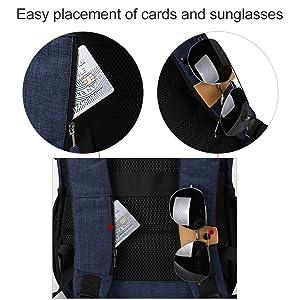 Cards Pocket & Sunglass Holder