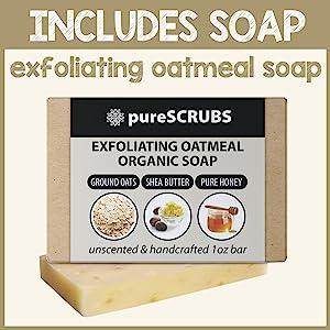 Vanilla Brown Sugar Face and Body Scrub Includes Soap