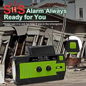 emergency weather radio with sos alarm