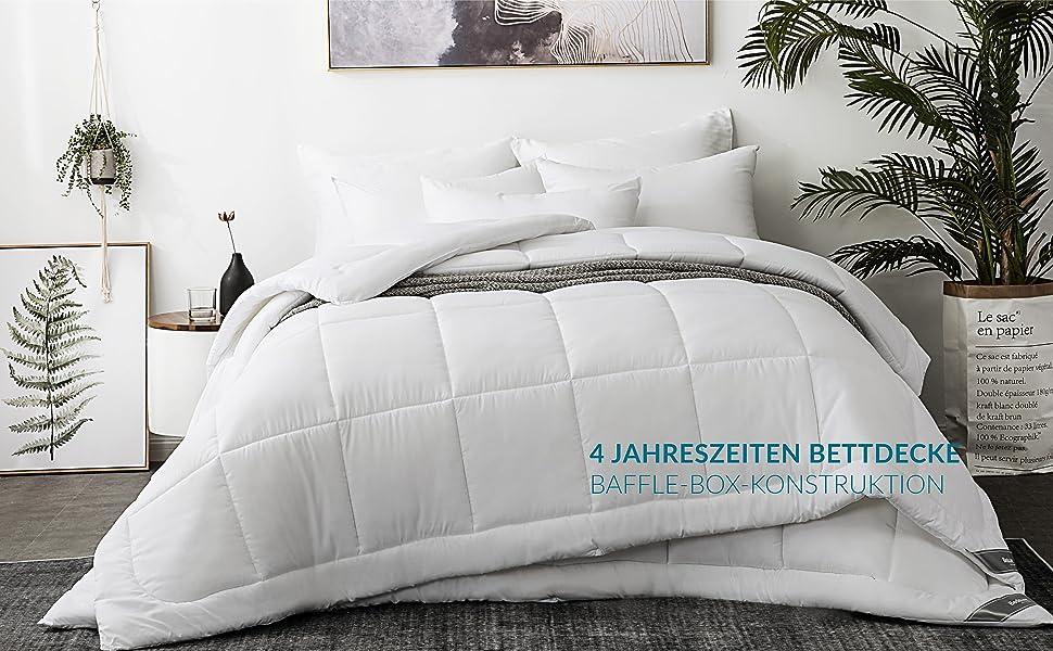 Bedsure Bettdecke 200x200 Cm 4 Jahreszeiten Oeko Test Zertifiziert Winterdecke Super Weiche Kuschelige Steppdecke Schlafdecke