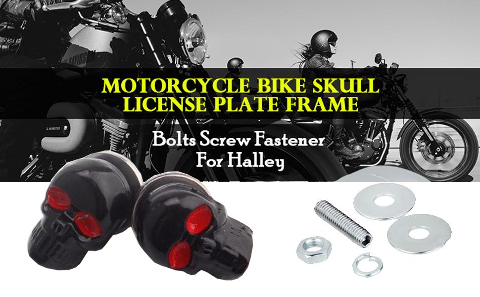 skull license plate srew