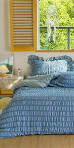 seersucker bedding comforter cover set