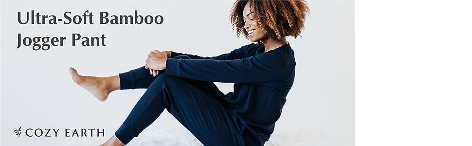 pant, bamboo, soft, temperature regulating, black, pants, sweatpants, loungewear, bamboo, women's