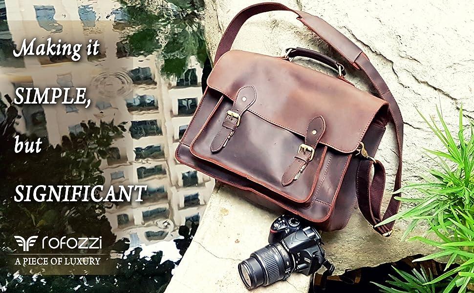 Camera Bag VEGAN Leather and Buffalo Plaid Tote Mac Tote Bag Diaper Bag Laptop