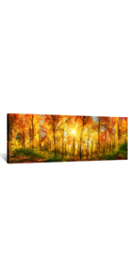 tree Canvas Wall Art Decor panoramic picture long pictures for living room sunset pictures