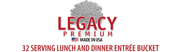 Legacy Premium Food Storage - Gourmet Dehydrated and Freeze Dried High Quality Food