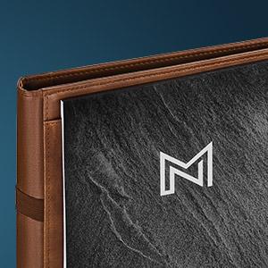 leather portfolio padfolio for graduates women men businessmen