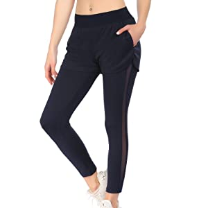 COOrun Womens Capri Sweatpants Lightweight Drawstring Jogger Pants Workout Active Sportswear with Pockets