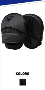 Boxing Pads Focus Mitts | Matte Black Convex Skin