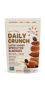 Coffee-Soaked Sprouted Almonds