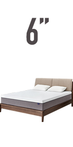6'' memory foam mattress