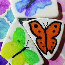 Versatile use on white Santorini stones for soft watercolor effect