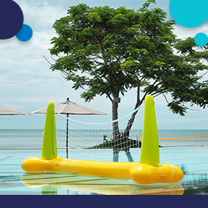 pairs with intex volleyball set and other volleyball pool sets