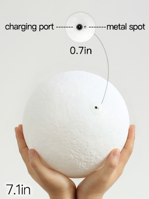 touch control moon lamp
