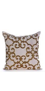 Gold Encrusted Pillow Covers
