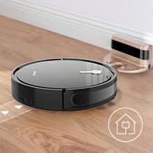 Galapare Robot Aspirador 1800pa Mejor para pelos de Mascotas Piso Duro y Alfombra Mediana m/últiples Modos de Limpieza protecci/ón de Sensor Inteligente
