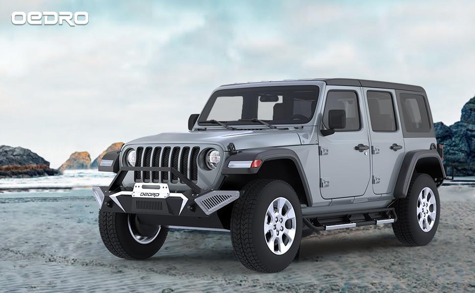 silver drop side steps for jeep jl